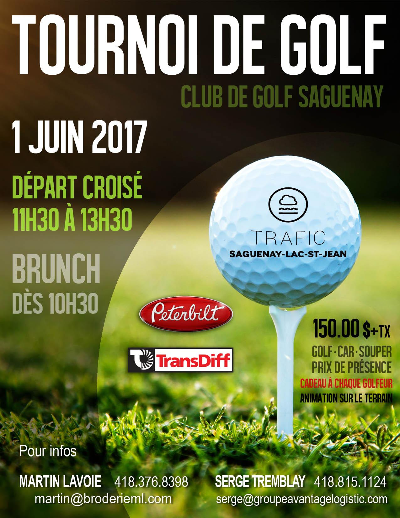 Tournoi de golf Trafic 2017
