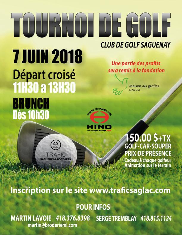 Tournoi de golf Trafic 2018